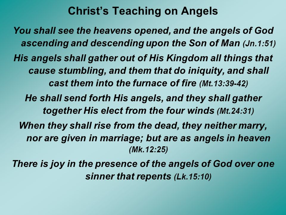 Christ's Teaching on Angels