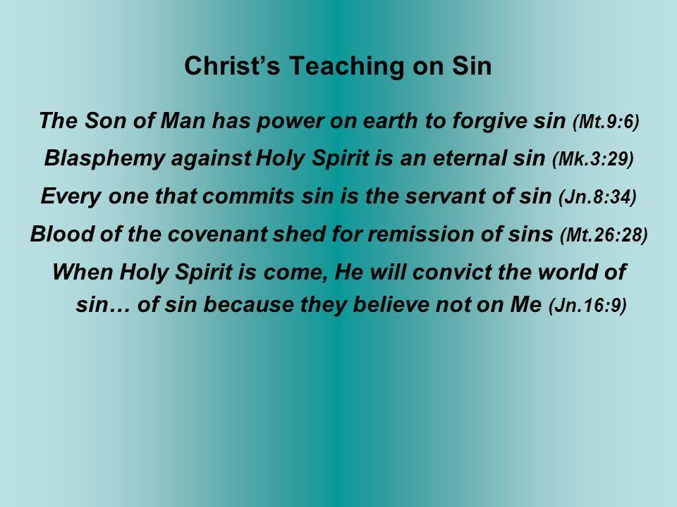 Christ's Teaching on Sin