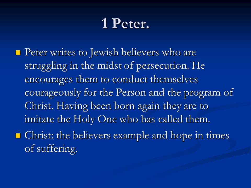 1 Peter.