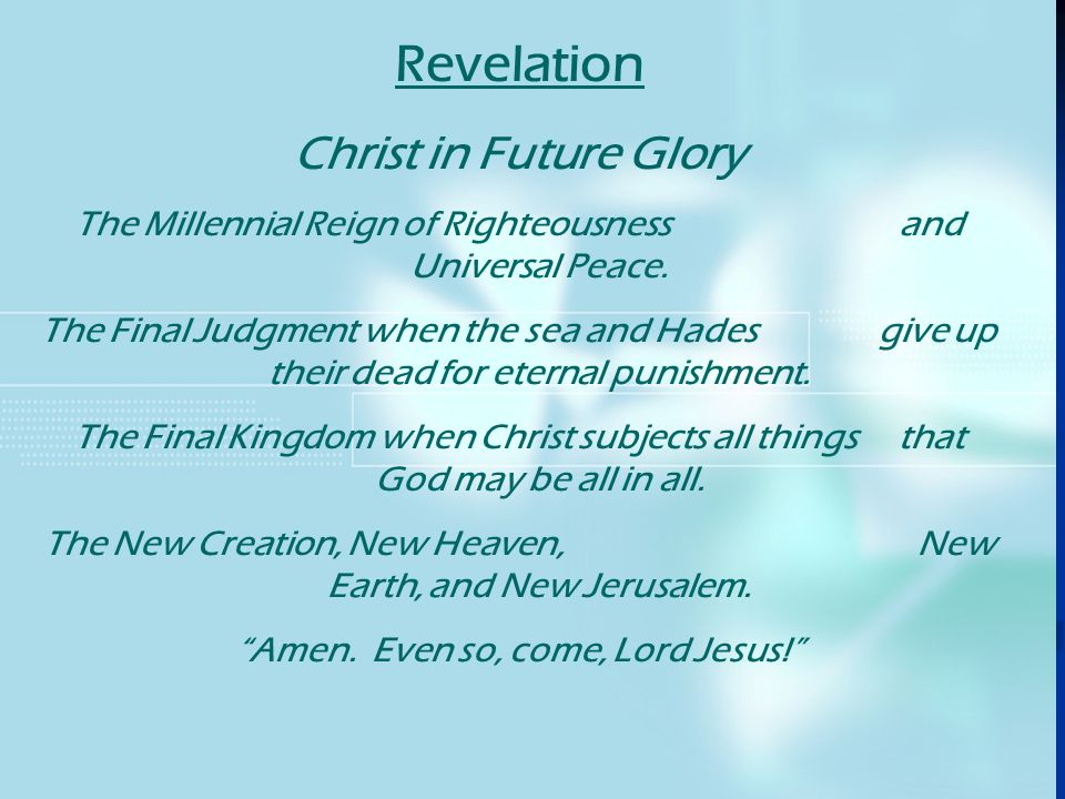 Revelation Christ in Future Glory