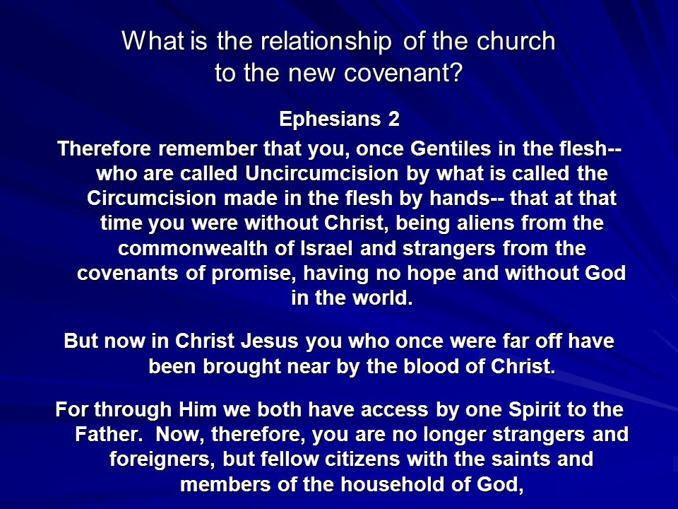 What is the relationship of the church to the new covenant