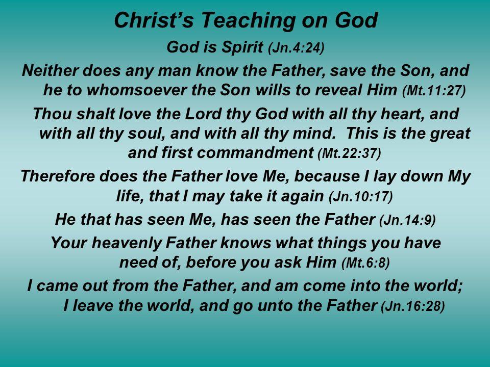 Christ's Teaching on God