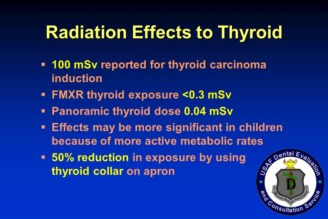 Radiation Effects to Thyroid