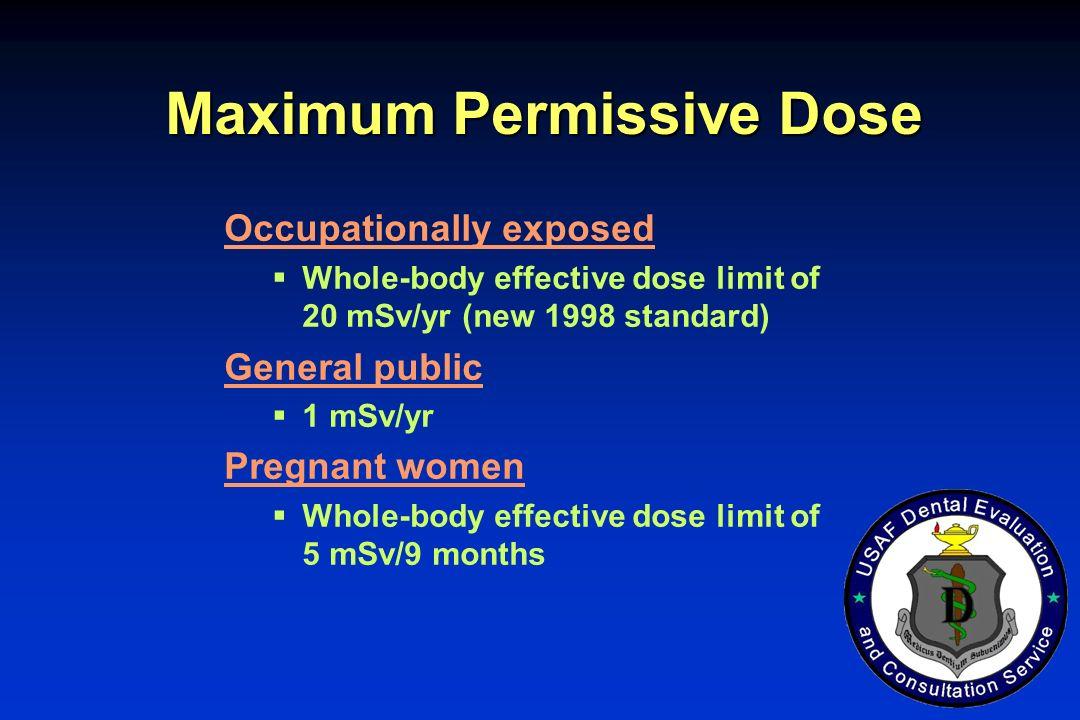 Maximum Permissive Dose