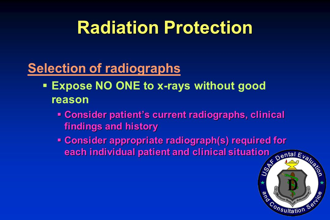 Radiation Protection Selection of radiographs