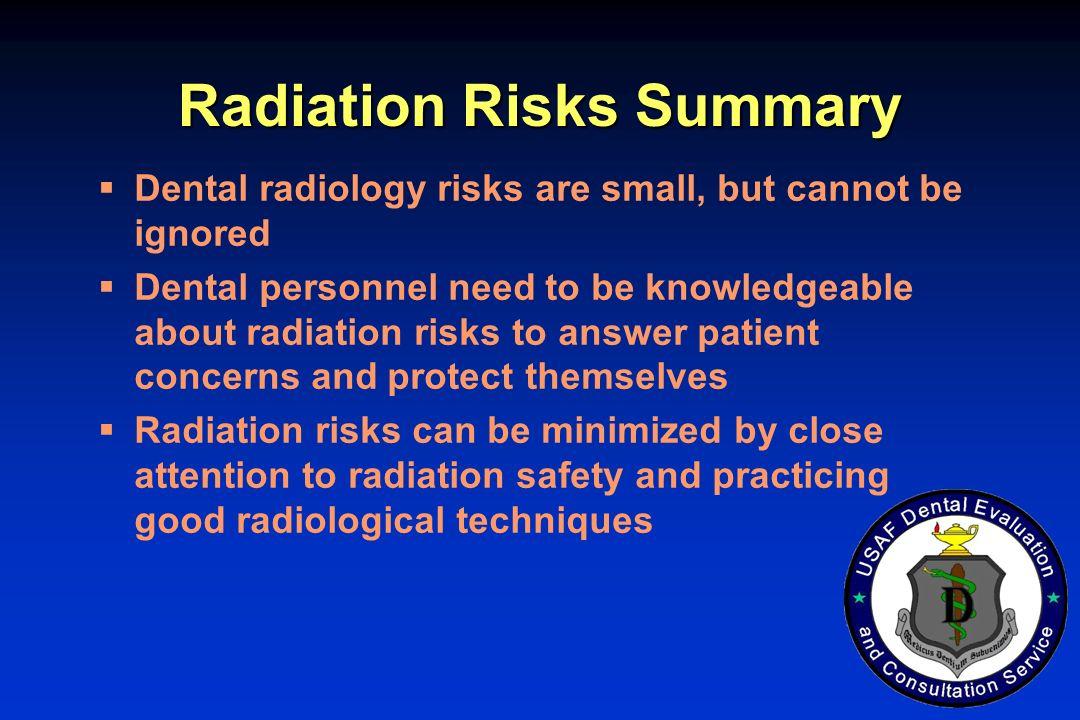 Radiation Risks Summary