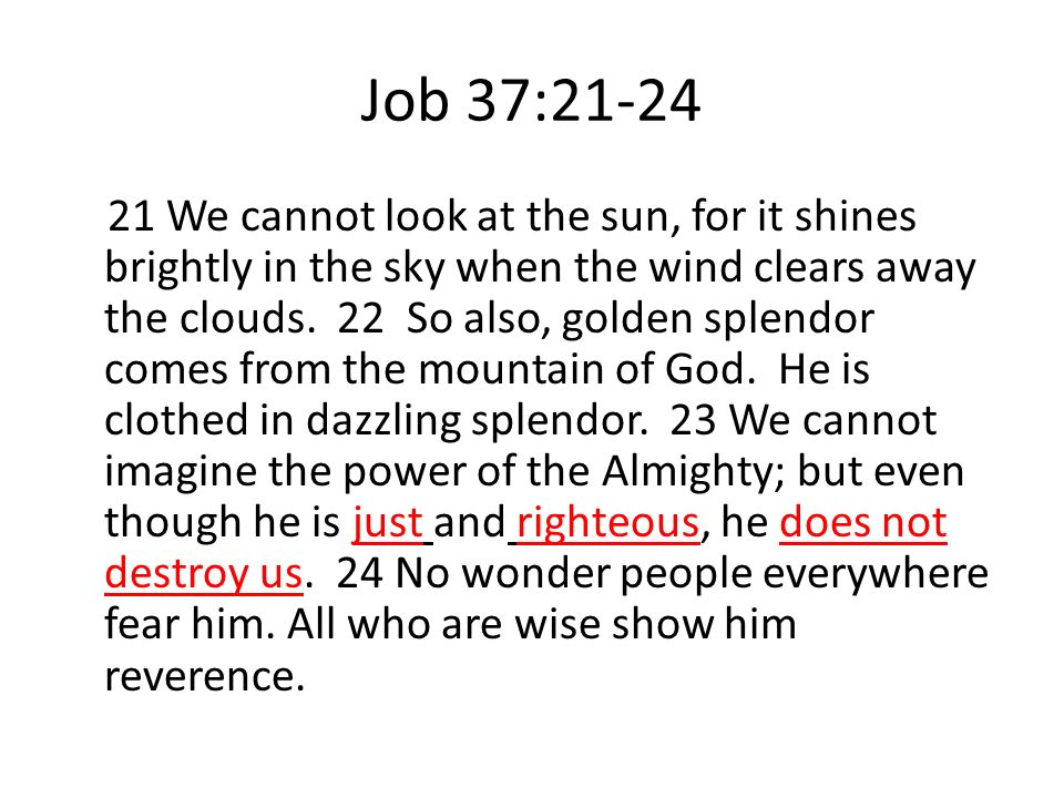 Job 37:21-24
