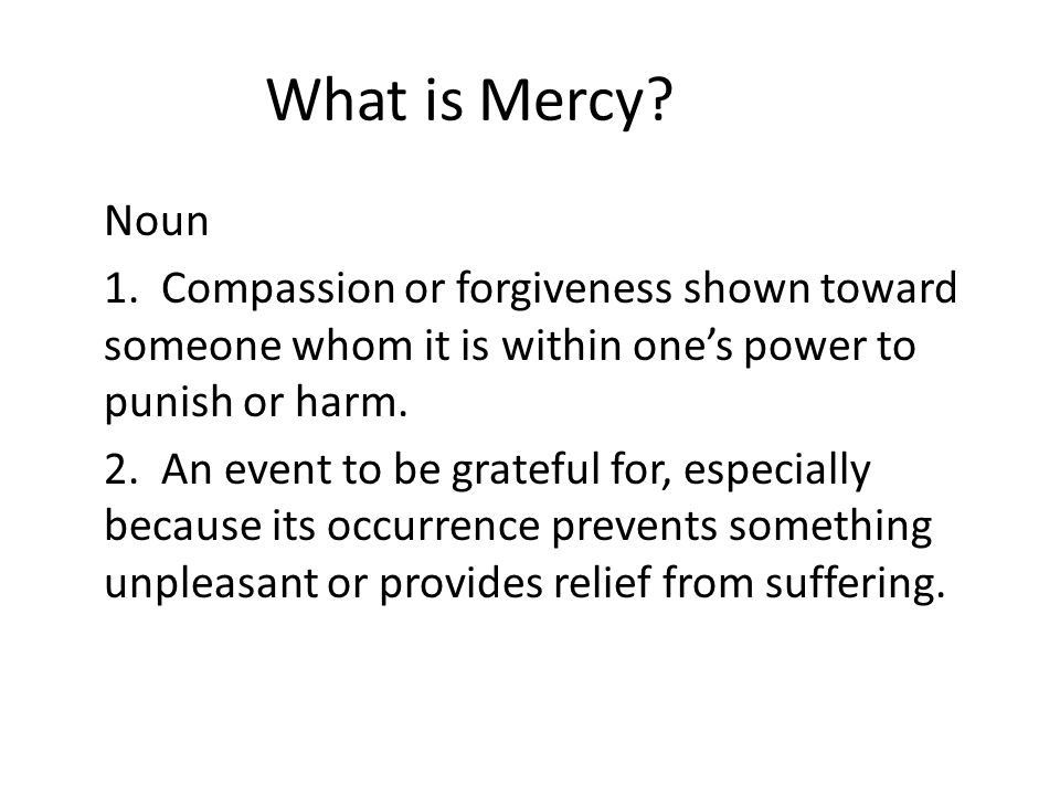 What is Mercy
