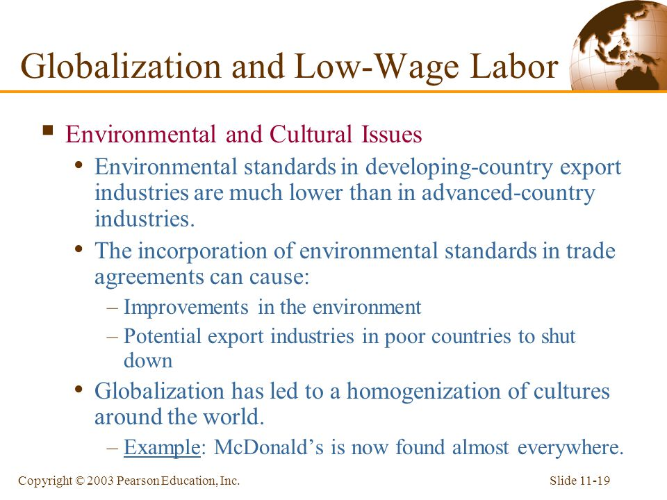 Globalization and Low-Wage Labor