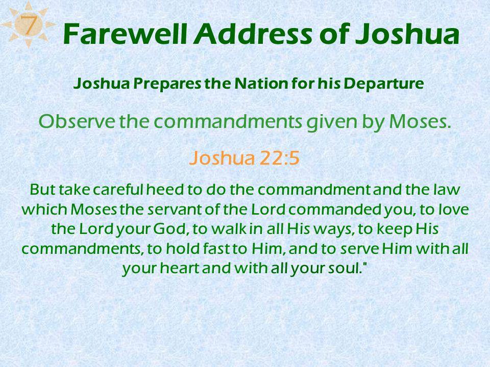 Farewell Address of Joshua