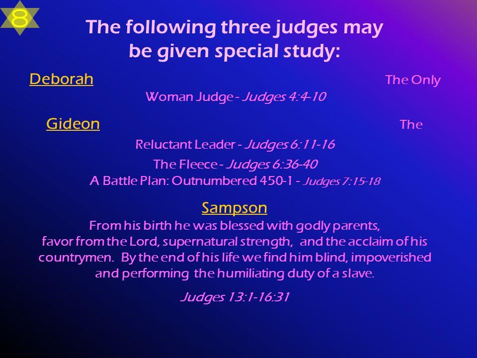 Deborah The Only Woman Judge - Judges 4:4-10