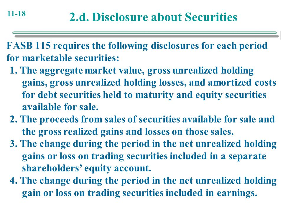 2.d. Disclosure about Securities