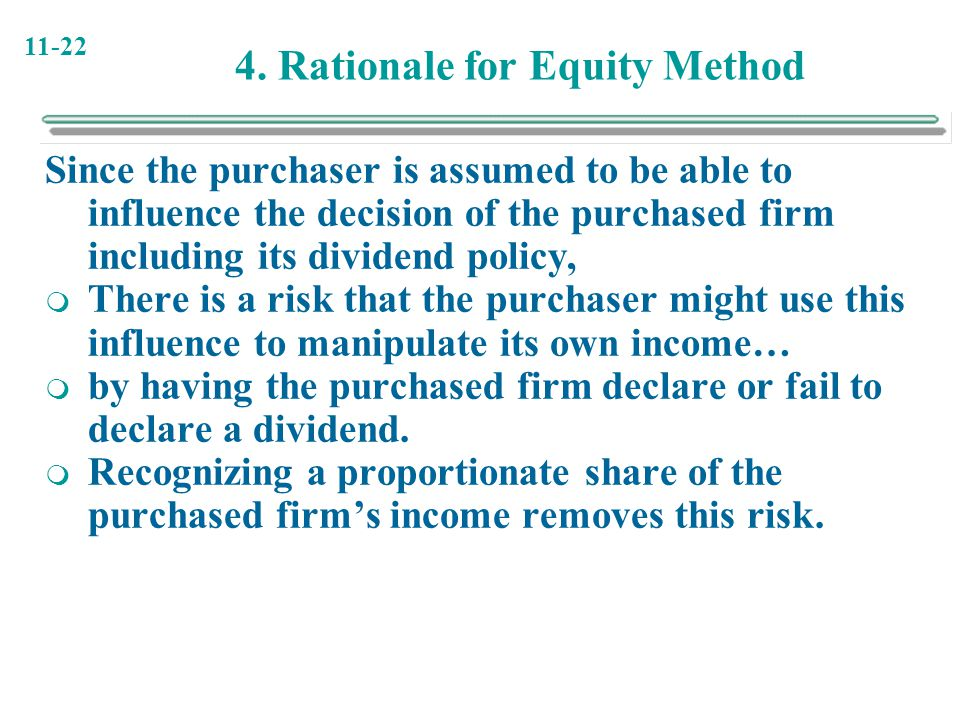 4. Rationale for Equity Method