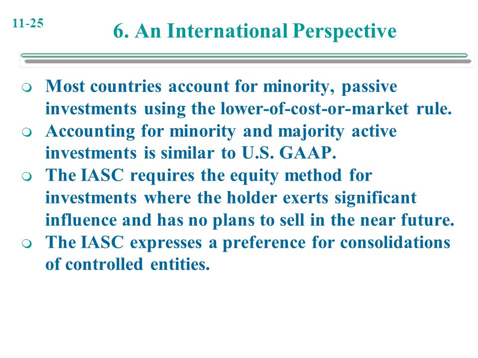 6. An International Perspective