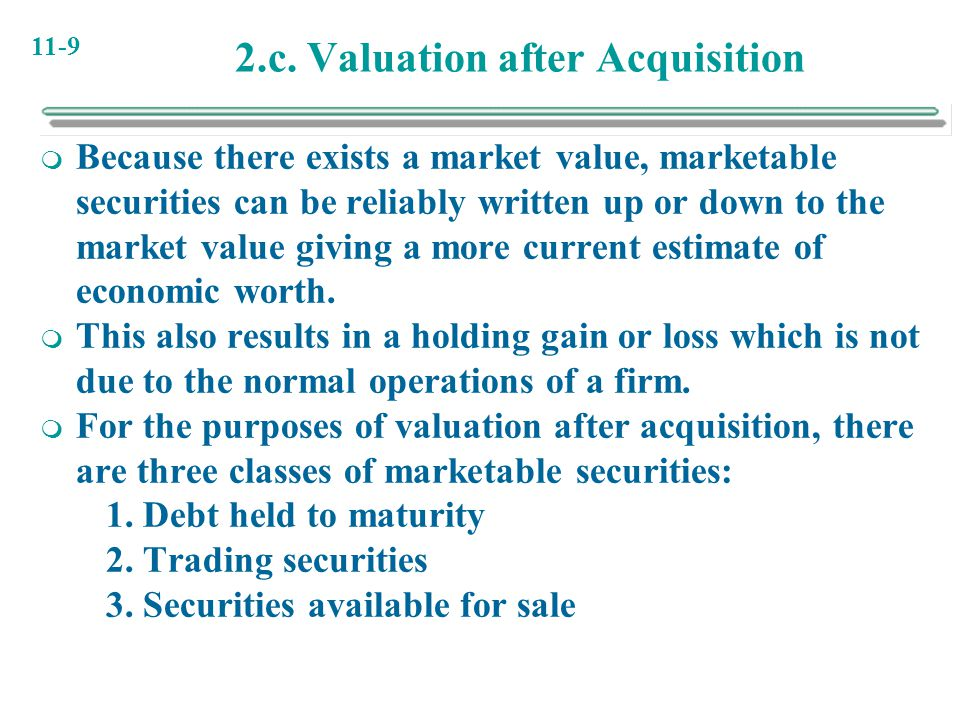 2.c. Valuation after Acquisition