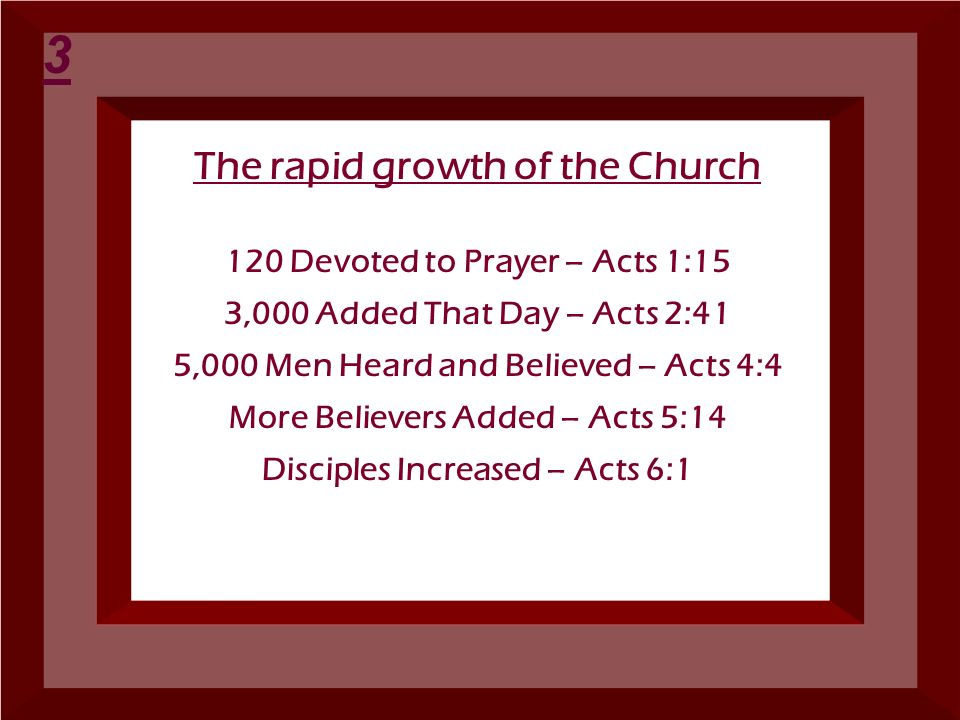 The rapid growth of the Church