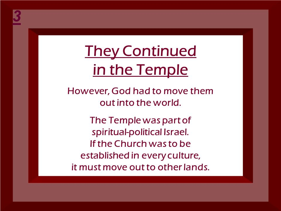 They Continued in the Temple