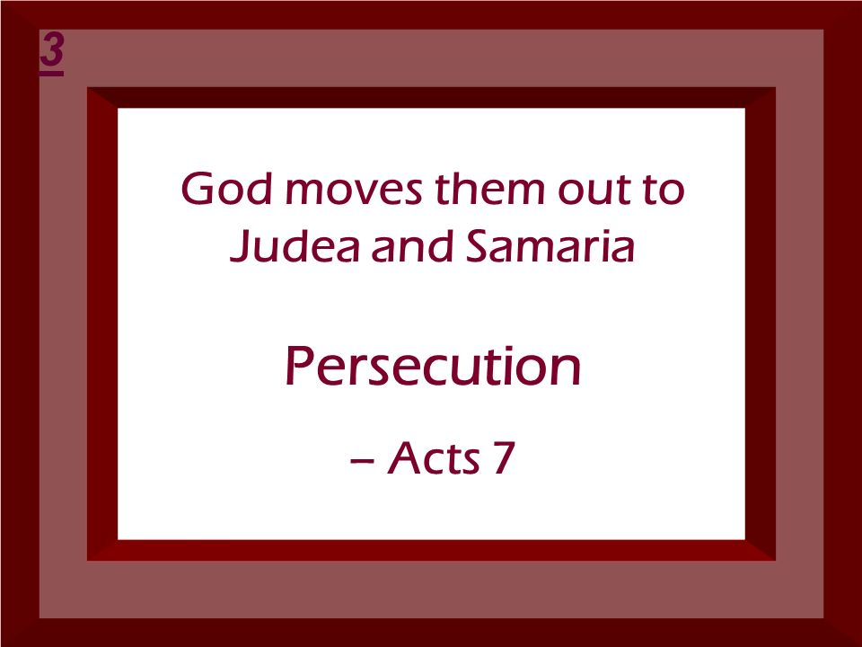 God moves them out to Judea and Samaria
