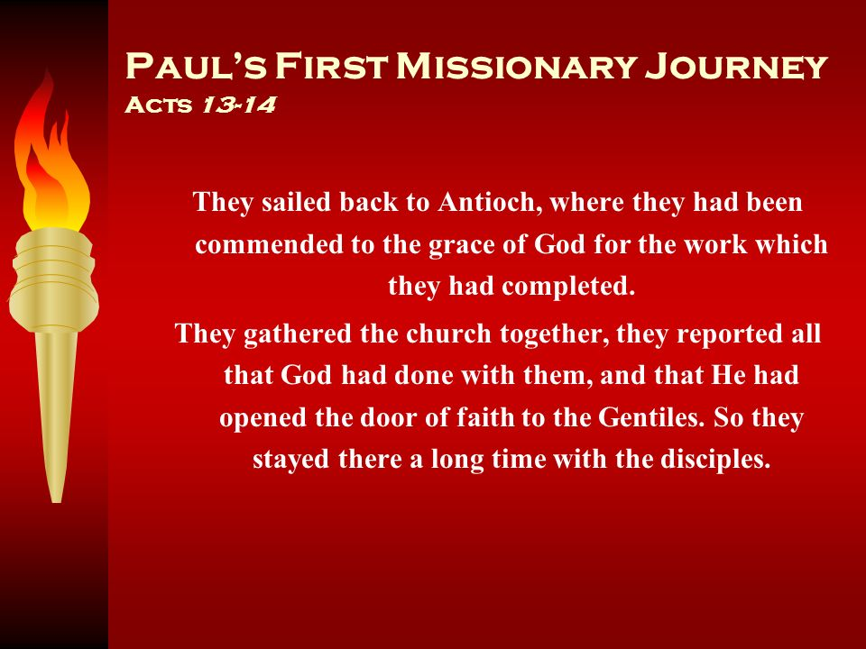 Paul's First Missionary Journey Acts 13-14