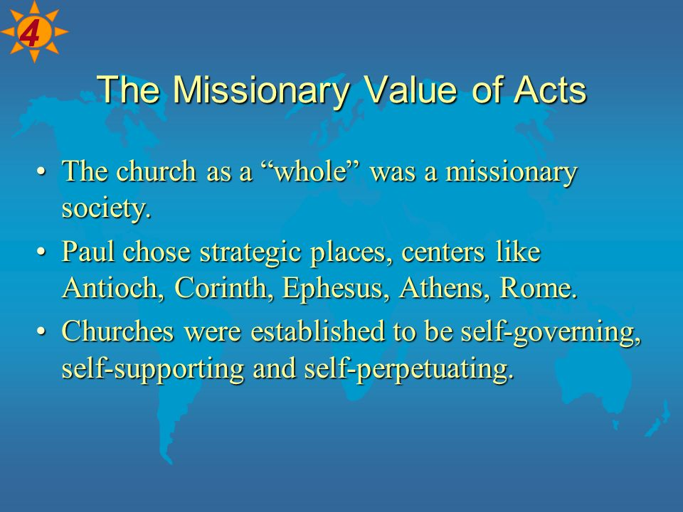 The Missionary Value of Acts