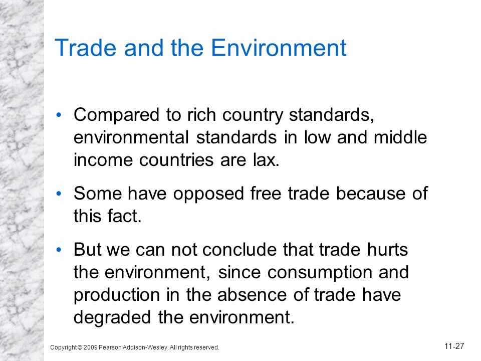Trade and the Environment