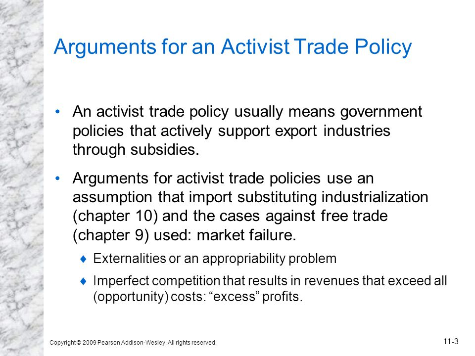Arguments for an Activist Trade Policy