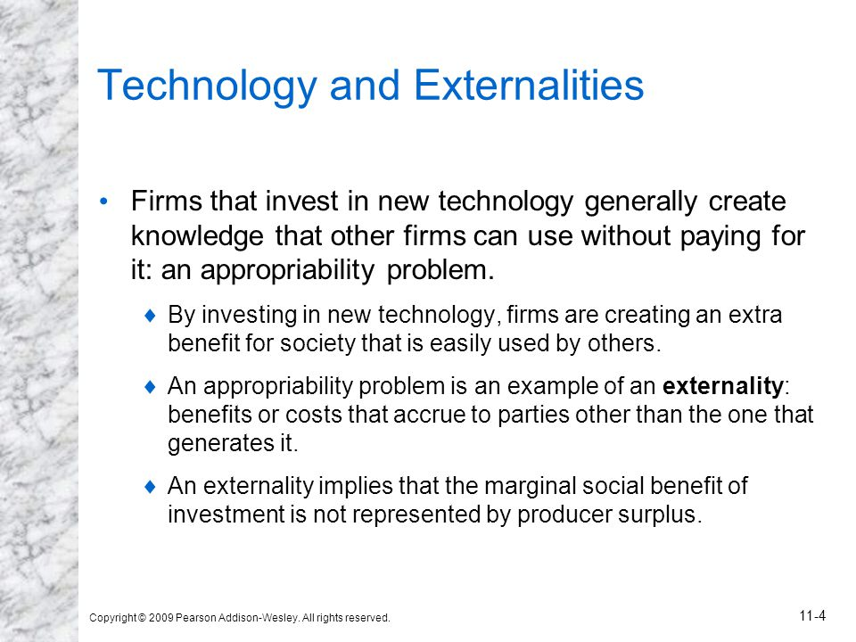 Technology and Externalities