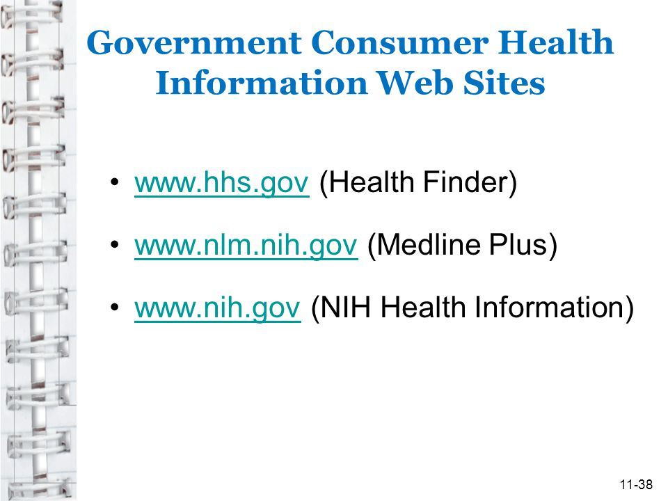 Government Consumer Health Information Web Sites