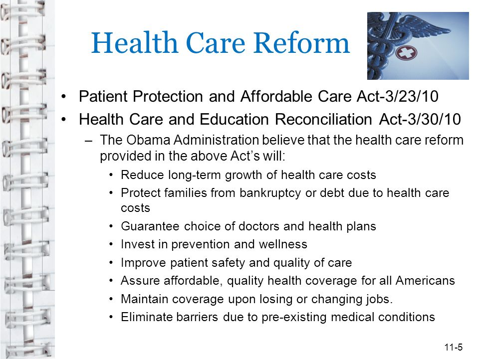 Health Care Reform Patient Protection and Affordable Care Act-3/23/10