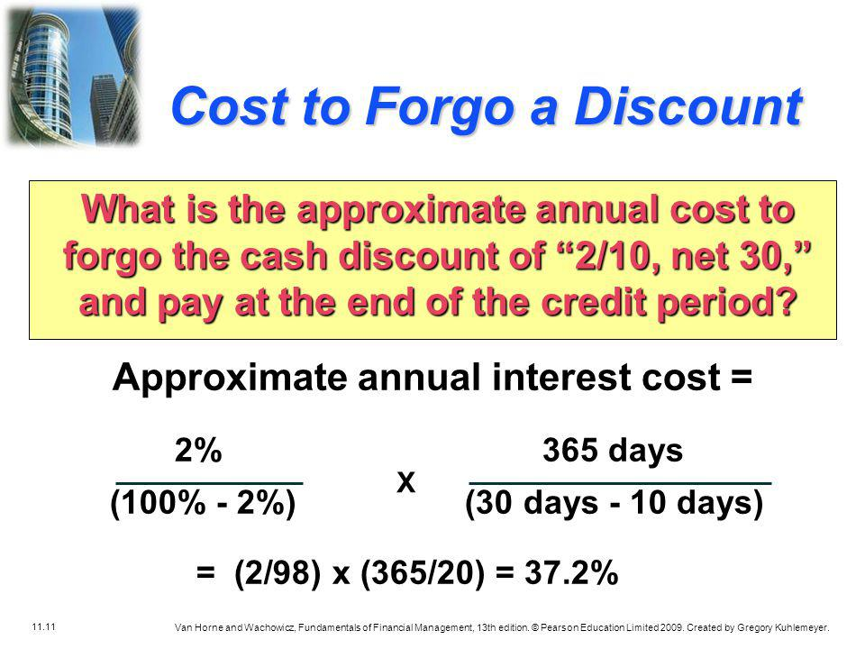 Approximate annual interest cost =