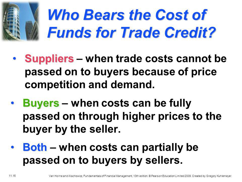 Who Bears the Cost of Funds for Trade Credit