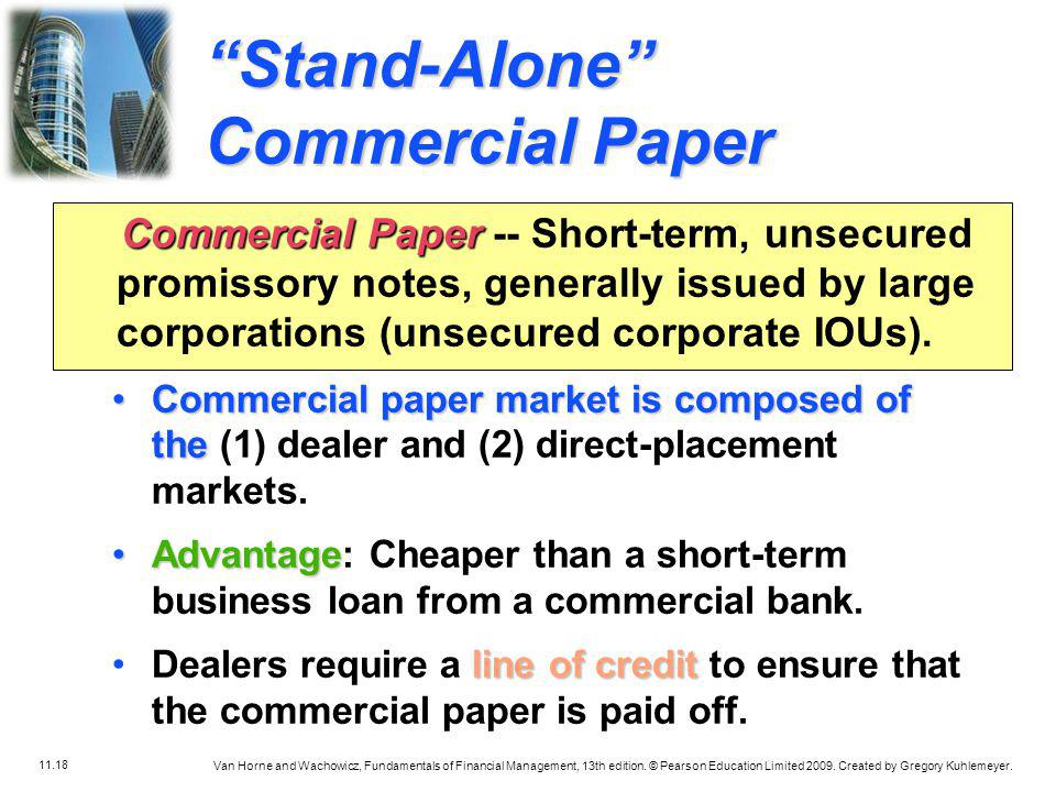 Stand-Alone Commercial Paper