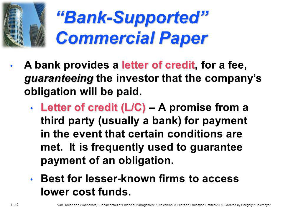 Bank-Supported Commercial Paper