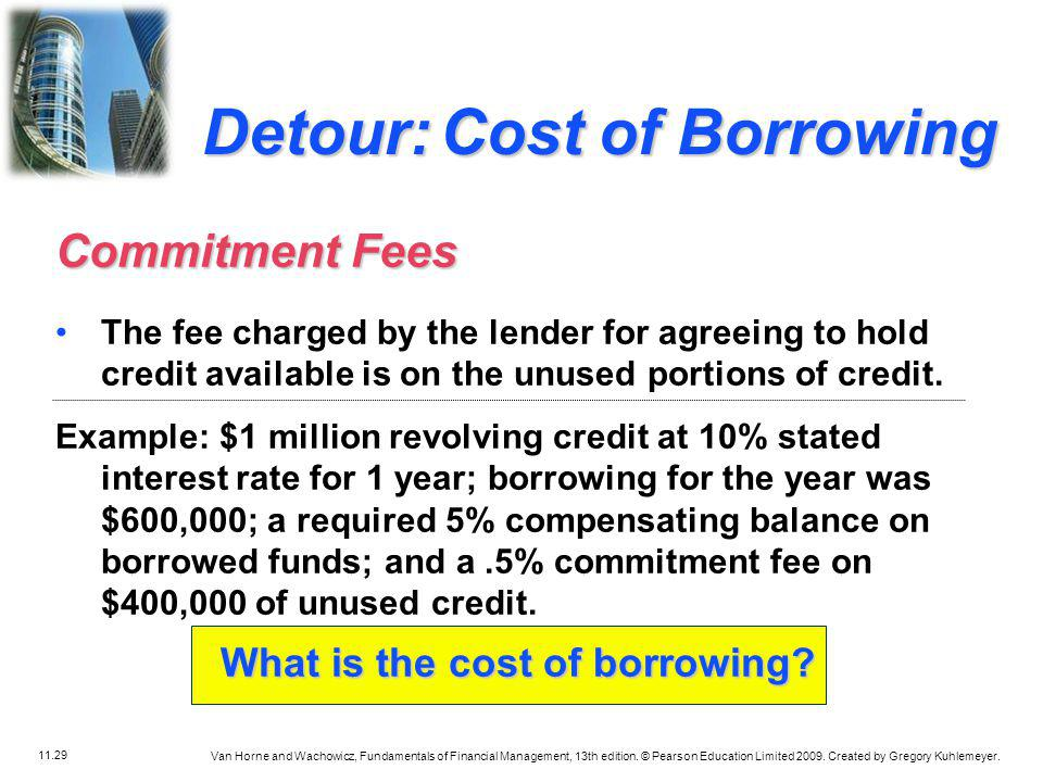 What is the cost of borrowing