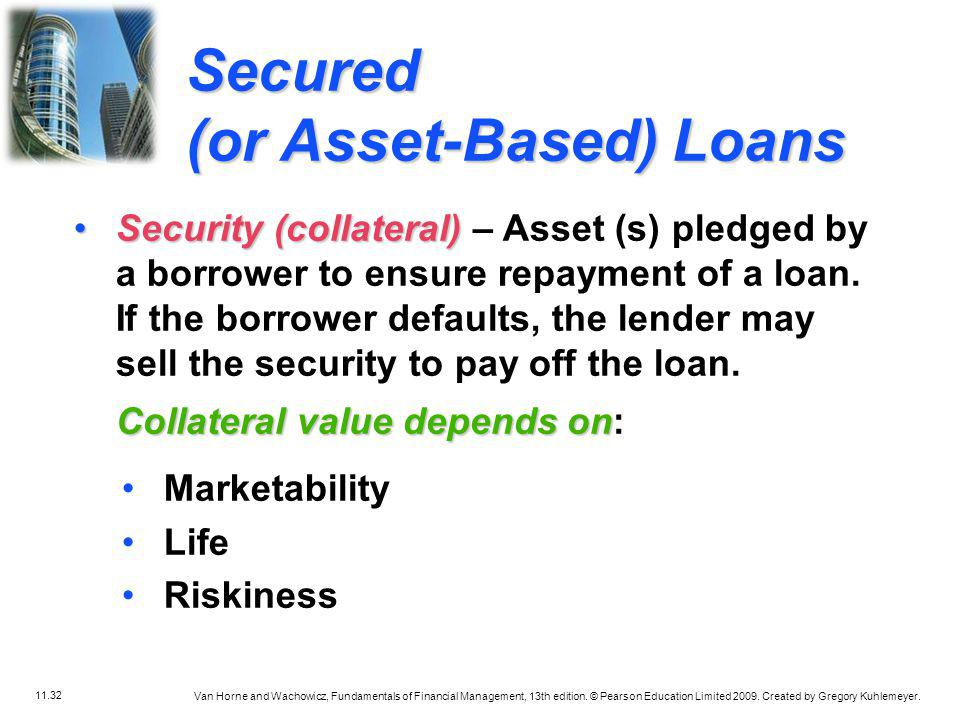 Secured (or Asset-Based) Loans