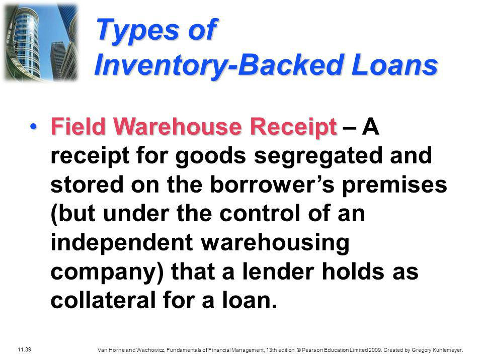 Types of Inventory-Backed Loans