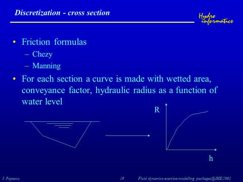 Discretization - cross section