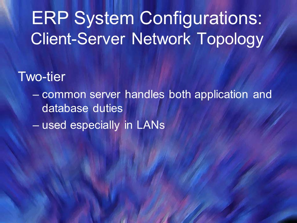 ERP System Configurations: Client-Server Network Topology