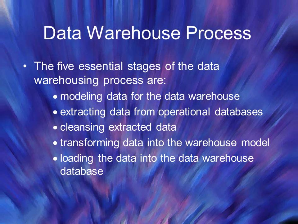 Data Warehouse Process