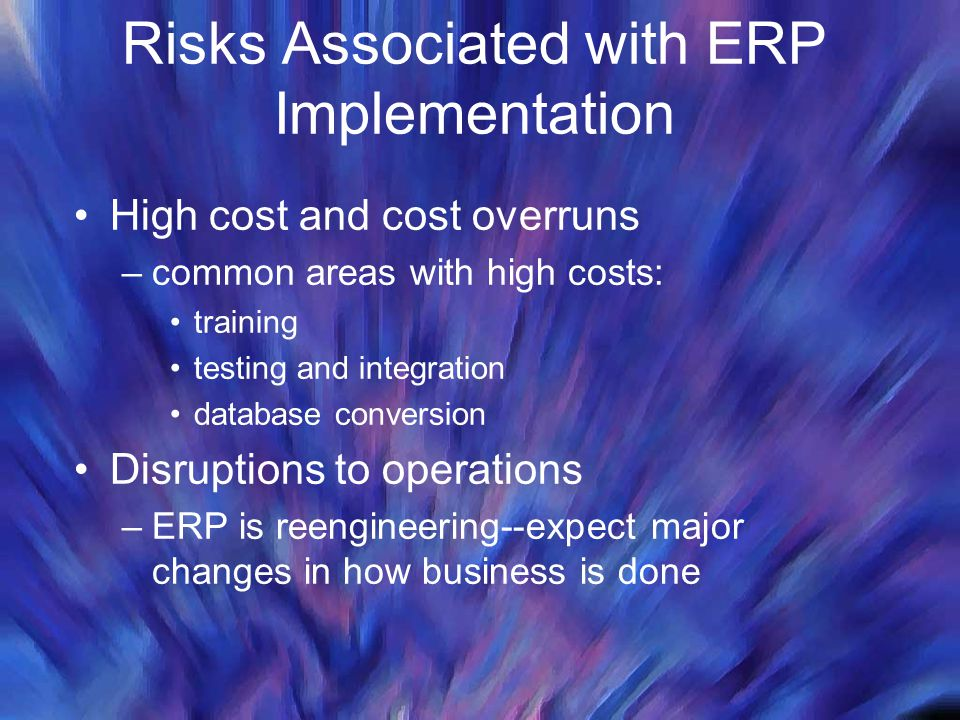 Risks Associated with ERP Implementation