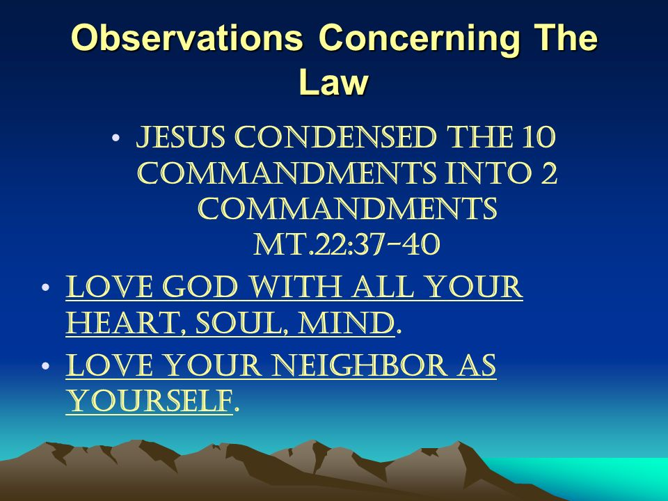 Observations Concerning The Law
