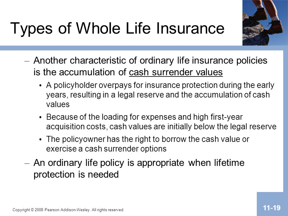 Types of Whole Life Insurance