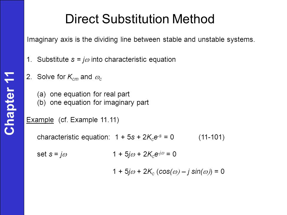 Direct Substitution Method