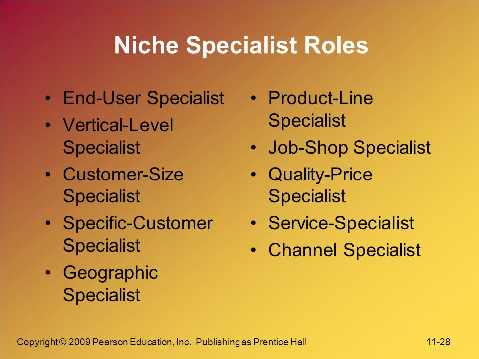 Niche Specialist Roles