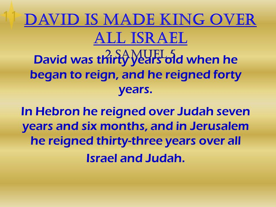 David is made king over all Israel 2 Samuel 5