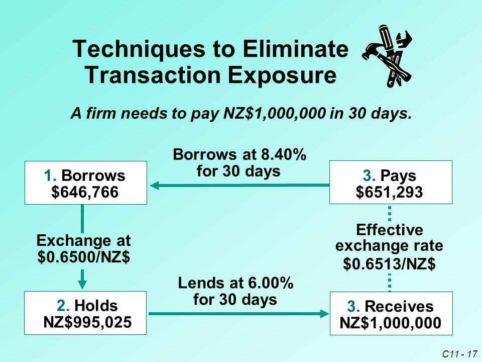 Techniques to Eliminate Transaction Exposure