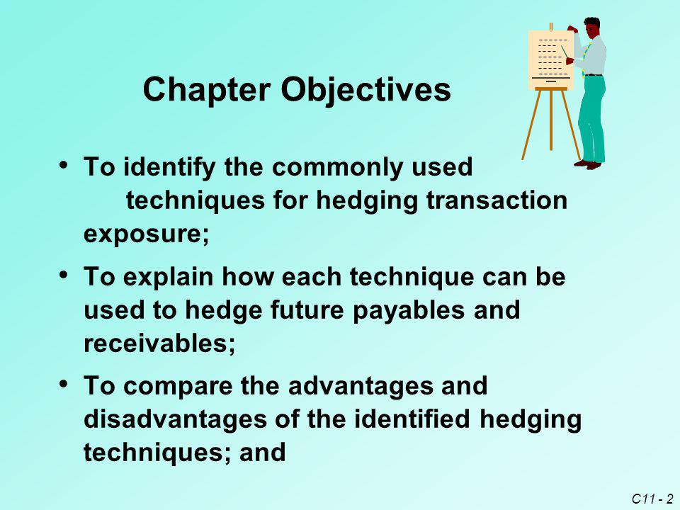 Chapter Objectives To identify the commonly used techniques for hedging transaction exposure;