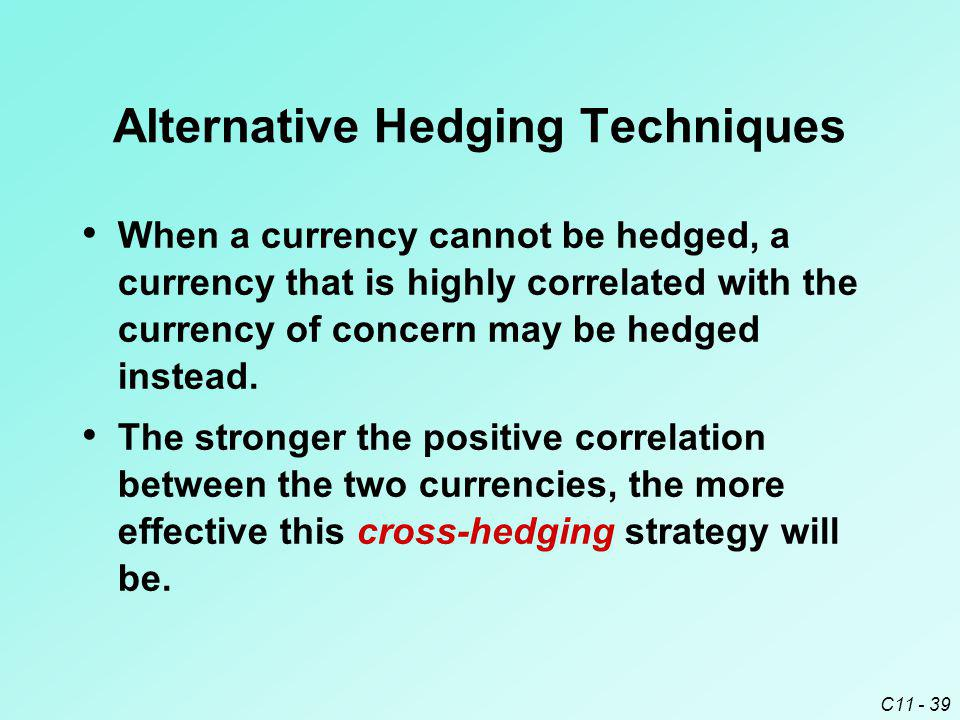 Alternative Hedging Techniques