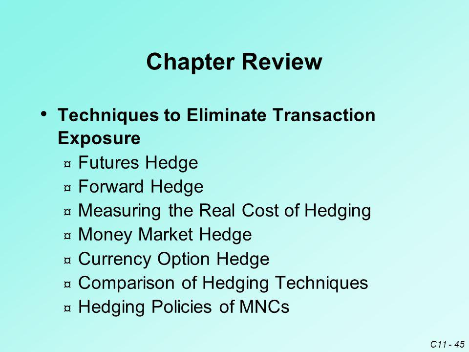 Chapter Review Techniques to Eliminate Transaction Exposure