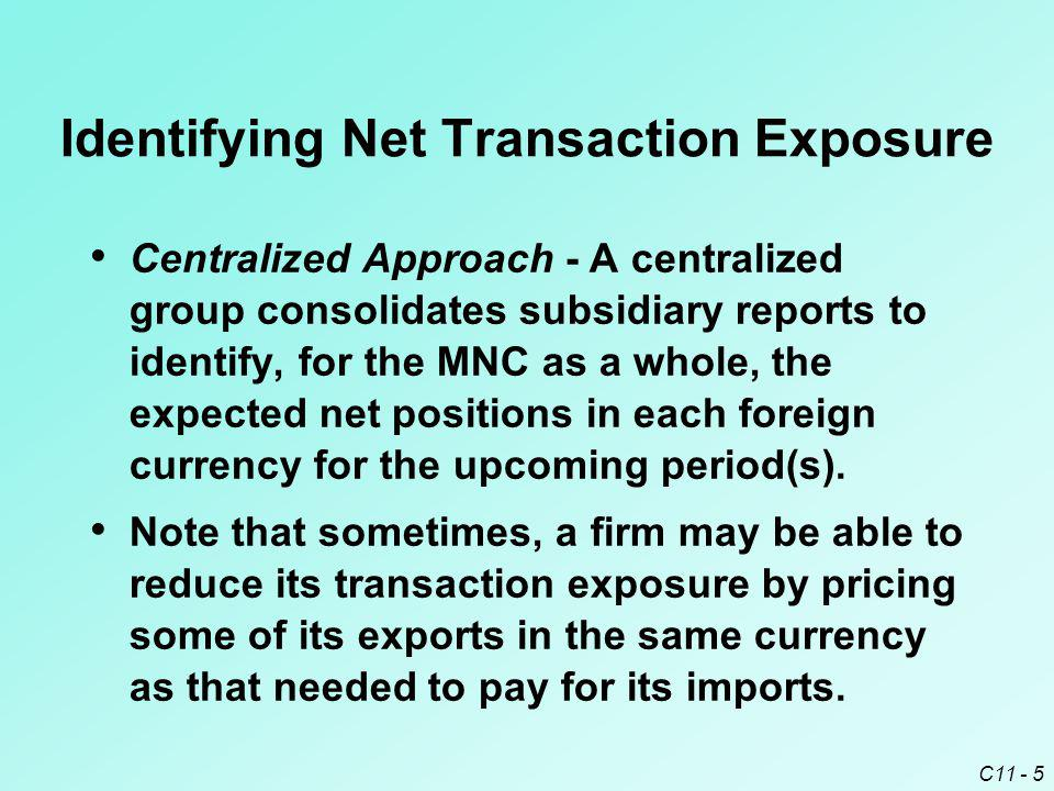Identifying Net Transaction Exposure